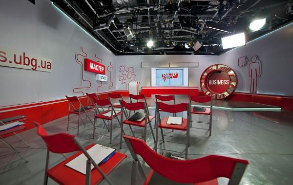 """Осветительная система для основной студии канала """"UBG"""""""