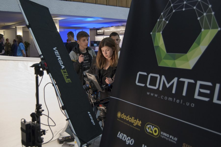 Comtel at the Kiev TV and Radio Fair in 2017 – in partnership with the school of author's films and TV Mikhail Lebedev