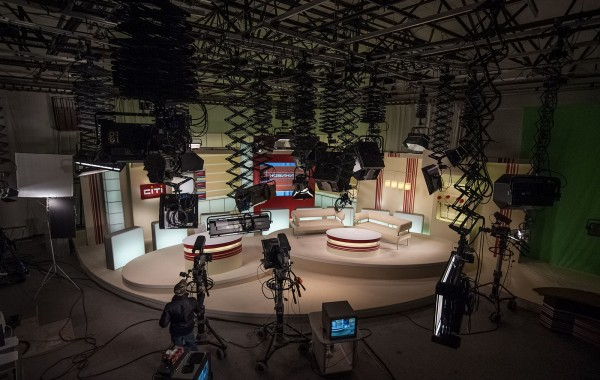 Large studio of channel 'Siti'