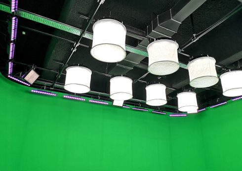 A 60m² chromakey studio – greenbox and lighting set